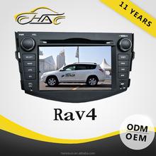 good quality double din car dvd player toyota rav4 with camera bluetooth USB SD