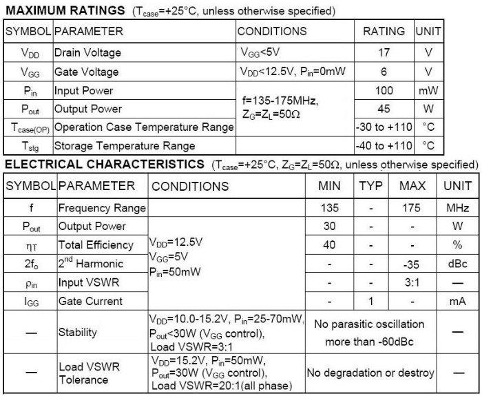 RA30H1317M MITSUBISHI 135~175MHz 30W 12.5V MOSFET Amplifier RF Power Transistors Modules