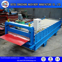 color metal corrugated wave roof panel roll forming machine