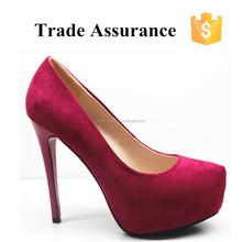 Nice rose red suede sex women platform high heels shoes