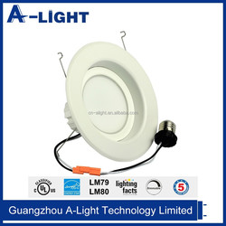 Supply 6 inch smd led down light aluminum frame 13w 5 years warranty with cUL/UL
