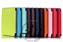 Manufacturer Wholesale Pu Leather Flip Ultrathin case cover For new kindle 2014/kindle6/kindle touch tablet case
