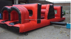 top selling red and black inflatable obstacle for sale, giant inflatable obstacle