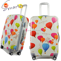 Colorful Balloon Printed Trolley Travel Luggage with 4 Spinner