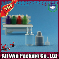 popular 5ml pet plastic dropper bottle with white black childproof cap China supplier