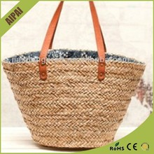 wholesale promotional Woman Wheat paper paper straw beach bag