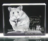Lifelike 3d laser Crystal Animal Craft Art Collection