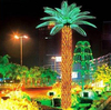 Home garden decorative 450cm Height outdoor artificial yellow flashing LED solar lighted up Moringaceae palm trees EDS06 1407