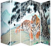 Hot sale 5 panel folding screen room divider screen