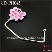 2012 Fashion pink butterfly unfoldable bag hanger CD-PH045