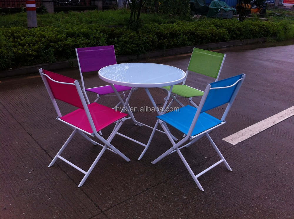 outdoor 3pcs garden folding bistro set foldable chair and table