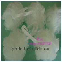 New design mesh pouf bath sponge,bath mesh sponge back scrubber