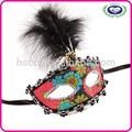 de alta calidad de pvc señoras máscara mascarada de plumas con la máscara de partido para la decoración