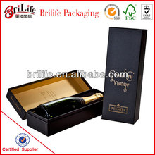 High Quality Fashion Custom One bottle champagne boxes