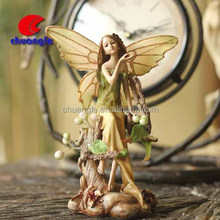 Custom Popular collectible resin angel figure, customized collectible polyresin mini angel figures