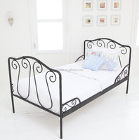 OEM Modern Style Cheap Metal Single Bed with KD structure and powder coating for Home or Hotel Use
