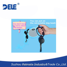 2015 new pet products hands free dog leash retractable with convenient garbage bin pet supplies