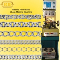 Chain making machine,with plasma welding system