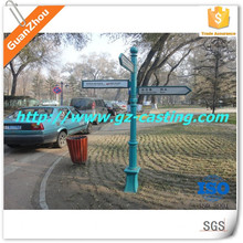 Outdoor lamp post with aluminum and cast iron material in stock from china sand casting foundry