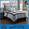 hotsale quilted flocking 100 polyester cheap comforter and curtain sets