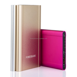 2016 wholesale shenzhen consumer electronics ultra slim Aluminum portable power bank for iphones for mobile phones free samples