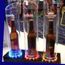 Manufacturer Supplies Attractive Acrylic LED Wine Bottle Display