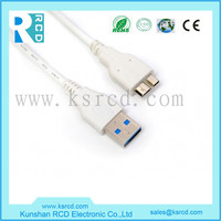 White USB3.1 to Micro B Cable for Tablet Macbook