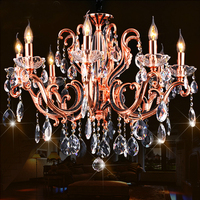 Modern crystal indian chandeliers red