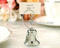 Charming Chrome Bell place card holder wedding favors