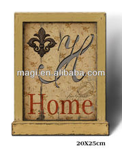 Classical Wood Table Decoration with HOME words