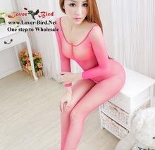 De color mujeres Body Sexy de todo el cuerpo mallas medias lencería Sexy transparente