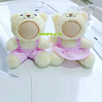 Funny Photo Couple Sitting bear 10CM 3D Face Doll