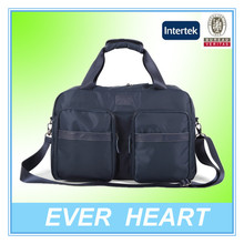 Carry on gym duffel bag travel luggage bag with cross body strap made in china