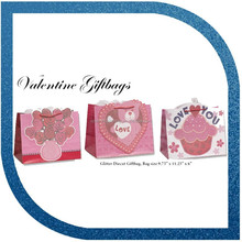 Decorative paper Valentine bag, gift paper bag