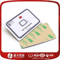 Factory direct sales 3M adhesive RFID Mifare paper card