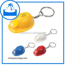 custom OEM ABS plastic led helmet flashlight keychain--factory direct