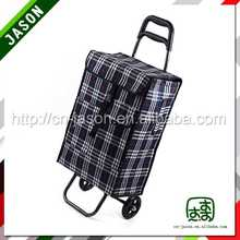 two wheel luggage cart enamelled trolley token keyring