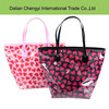 fancy heart-shaped printing waterproof pvc women's bag