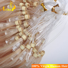 Cheap Vigin Remy Brazilian Micro Braid Hair Extensions 100 Human Hair Top Quality Double Beads Micro Ring Loop Hair Extension