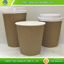 Hot selling raw material printed double wall disposable paper coffee/tea cup price
