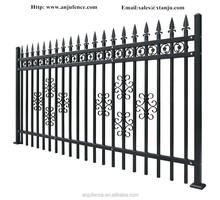 Powder coating decorative modular metal garden fence panels