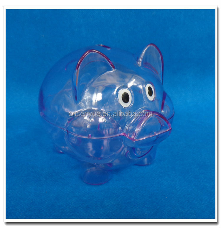 Clear Bank Clear Plastic Cheap Piggy Bank