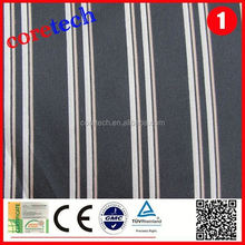 Promotion breathable black white striped satin fabric factory