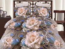 wholesale luxury cream flower design adult thick cotton printed patchwork 3d bedsheet