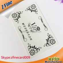 fast delivery cr80 size pvc smart card chips / vip visiting card