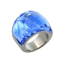 Latest Wholesale different types wholesale stainless steel women wedding glass ring with good price KR23939-K