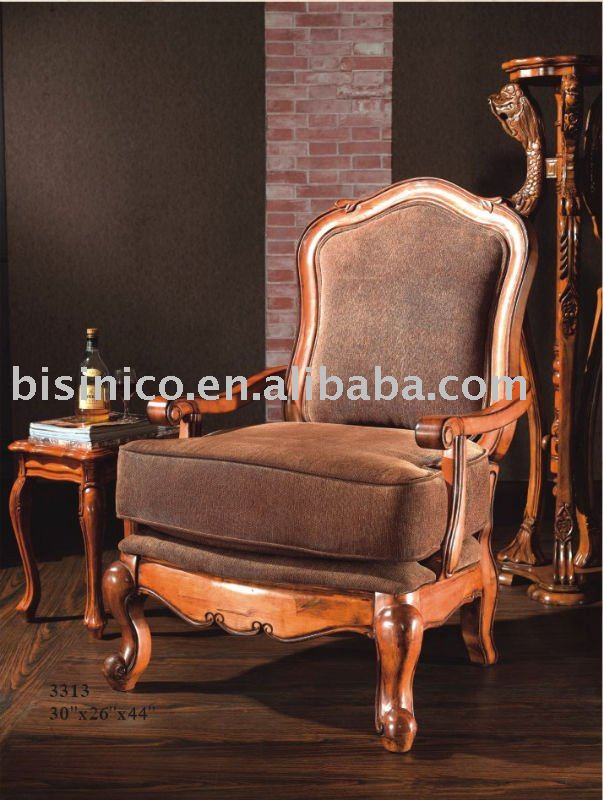 Antique Solid Wood Living Room Chair Single Sofa American Living Room Furniture Buy Antique