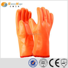 sunnyhope 3 layers liner oil pvc rubber coated gloves