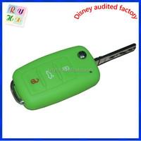 Customized decorative silicone car key case for VW