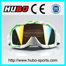 Helmet compatible custom frame and strap nose guard motocycle eyewear